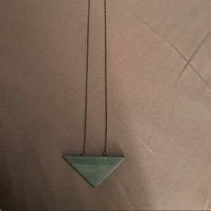 Ceramic triangle necklace.